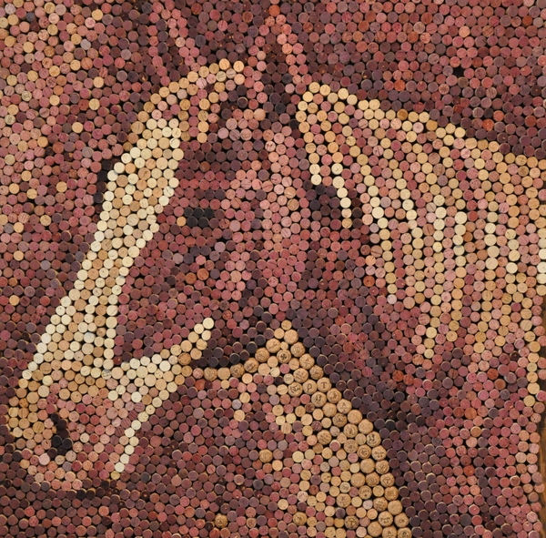 Wine cork art by allison baer is awe inspiring and niche for Art works from waste materials