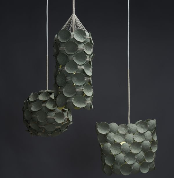 Kelly caruso designs cool pendant lamps from recycled for Cool recycled stuff