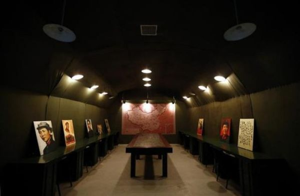 A Military Theme Restaurant Inside A Cave In Beijing