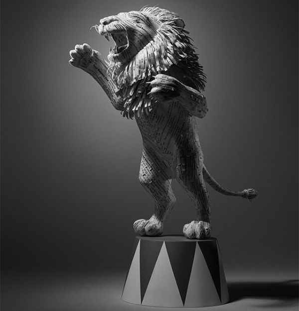 Paper lion by Kyle Bean2
