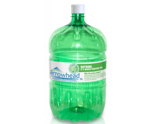 Arrowhead 100 percent recycled Bottle
