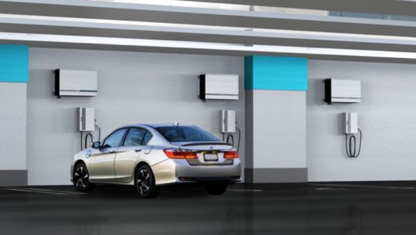 HEH55 Solar Powered EV Charger by Honda
