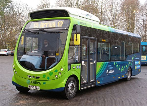 Induction charging electric bus Milton Keynes UK