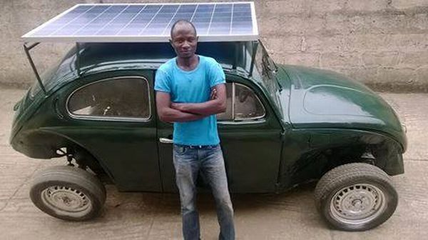 A Nigerian student built a car that can run on solar and wind power 1