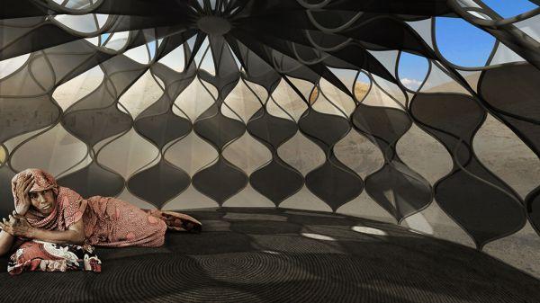Abeer Seikaly solar-powered refugee shelters