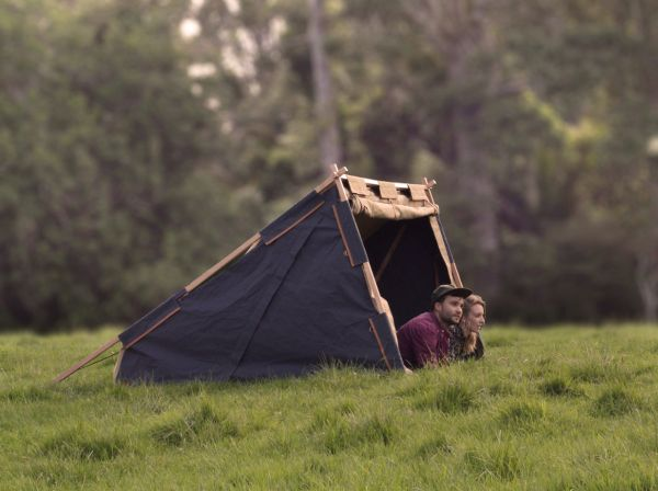 Nikolai Sorensen's Under Cover Camper is sustainable two –men-tent