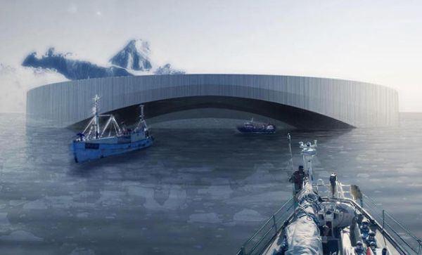 The Arctic Harvester  Self-sufficient hydroponic village harvest icebergs for energy 2