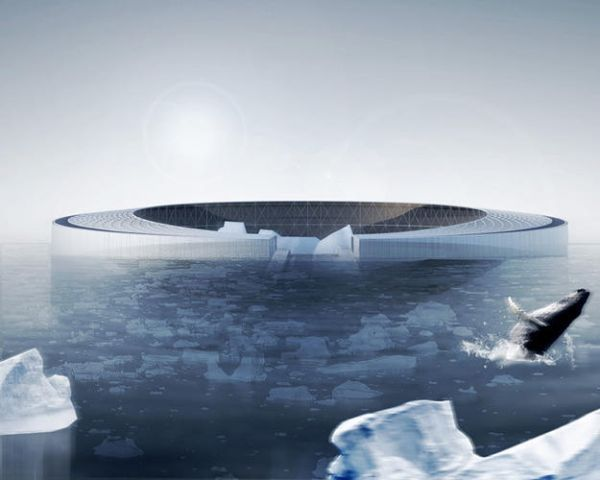 The Arctic Harvester  Self-sufficient hydroponic village harvest icebergs for energy 4