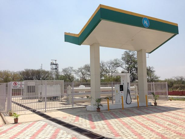 India's first solar powered hydrogen fule station