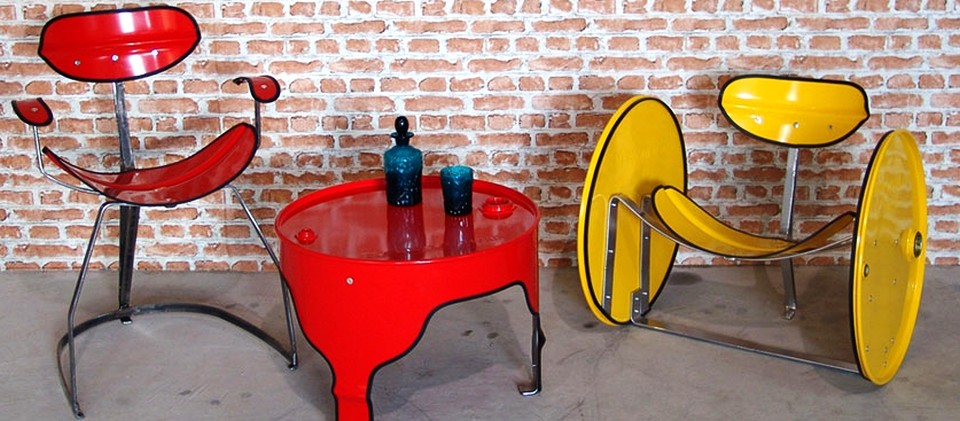 recycled oil barrel furniture by Urbanite Home 4