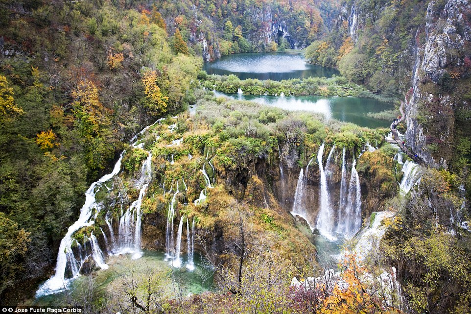 At the Plitvice Lakes National Park in Croatia