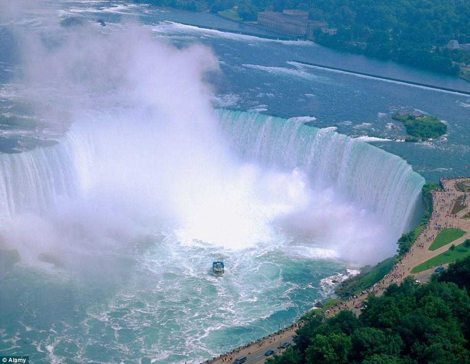 Niagara Falls between Canada and the United States