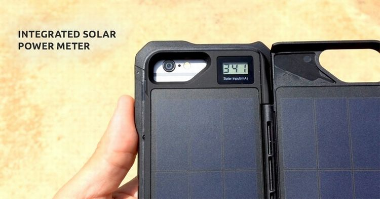 Solar backup for phones