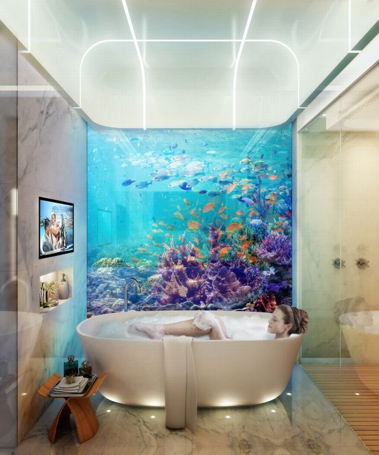 underwater villas by  Kleindienst Group  4