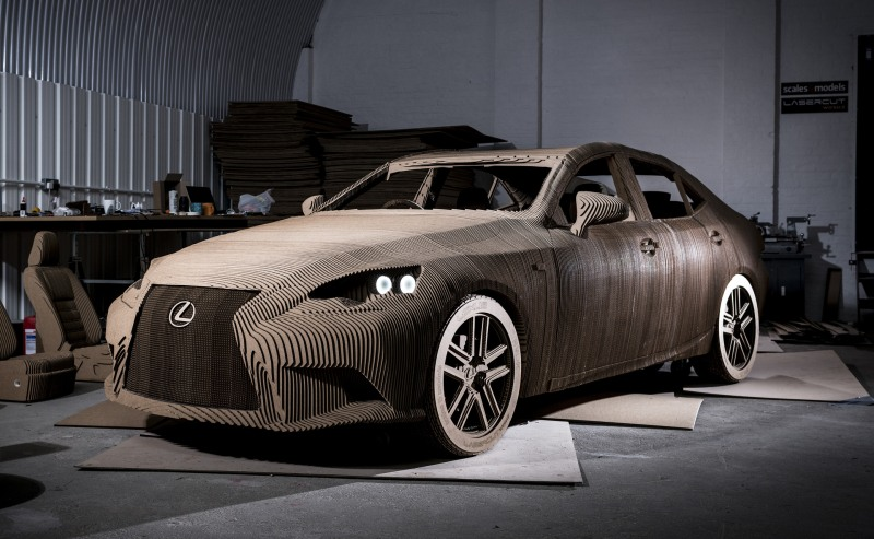 Cardboard Lexus IS replica 5