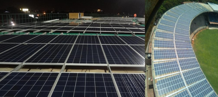 World's first solar powered cricket ground in India