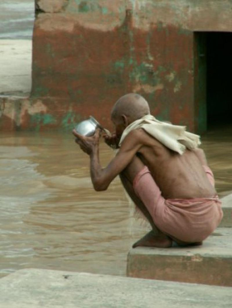 drinking ganges water