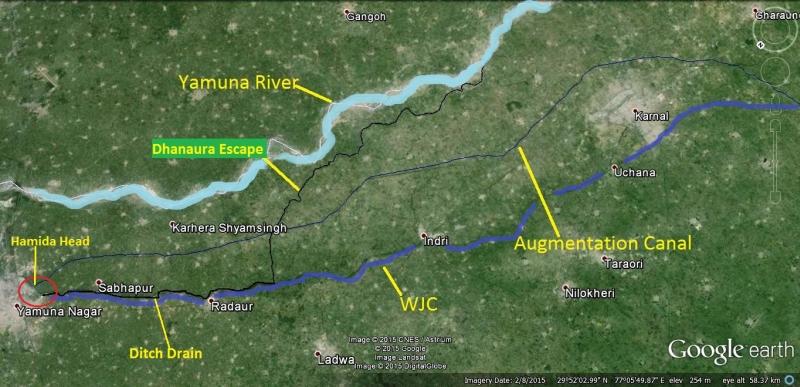 yamuna river map