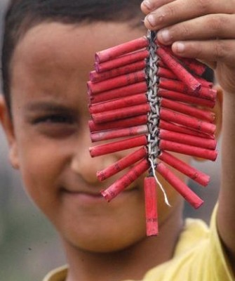 Firecracker waste in India