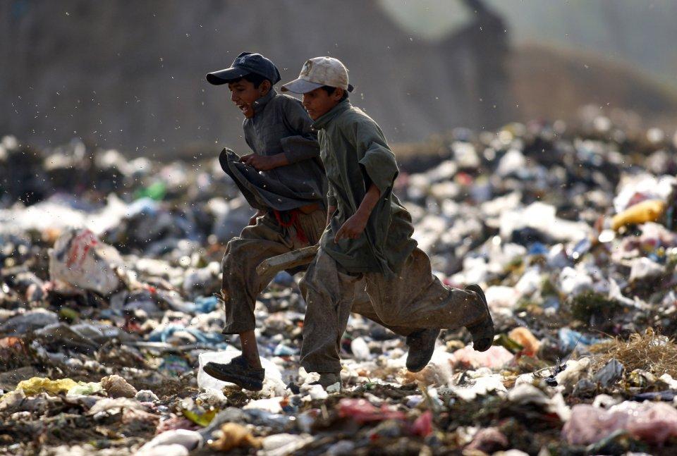 garbage dump outside Islamabad, Pakistan