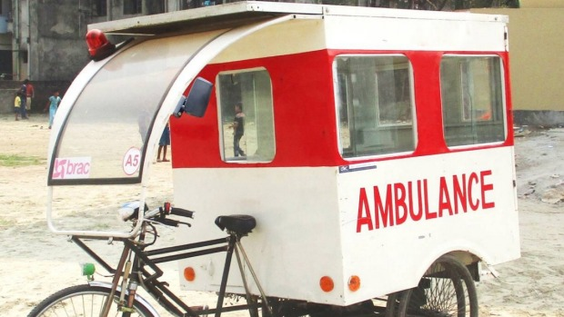 solar powered three wheeled ambulance