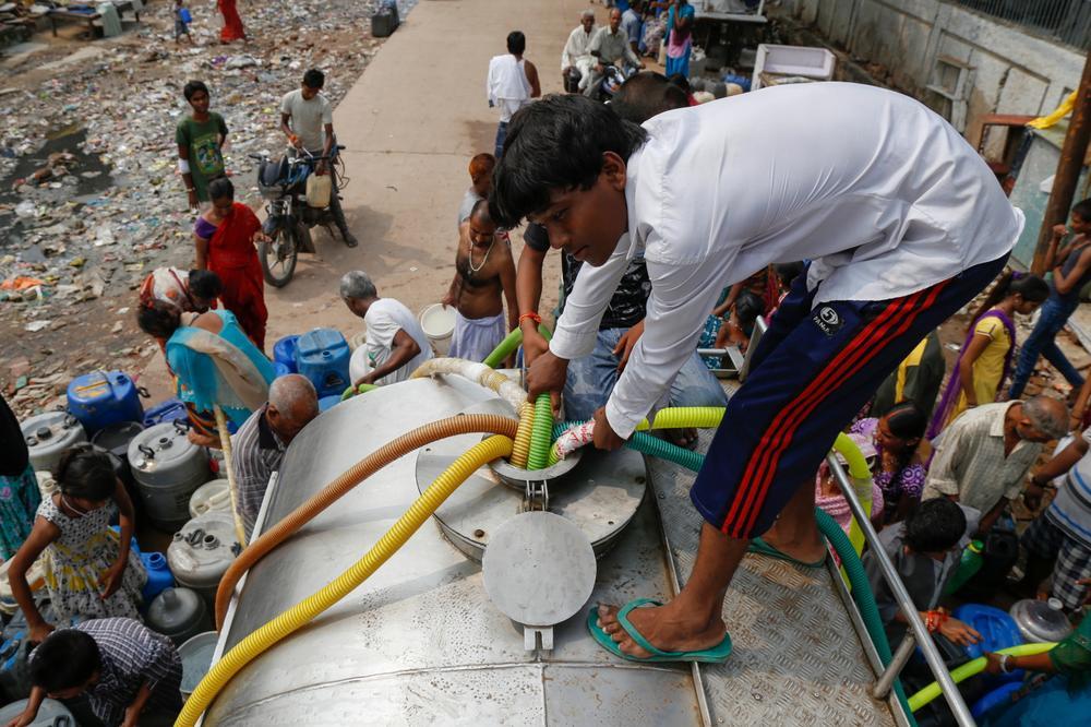 Water tanker in Delhi