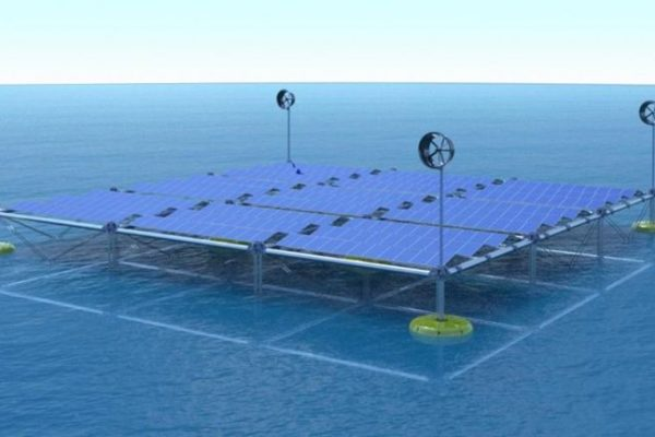Hybrid Floating Platform to Generate Wind, Solar and Wave Energy