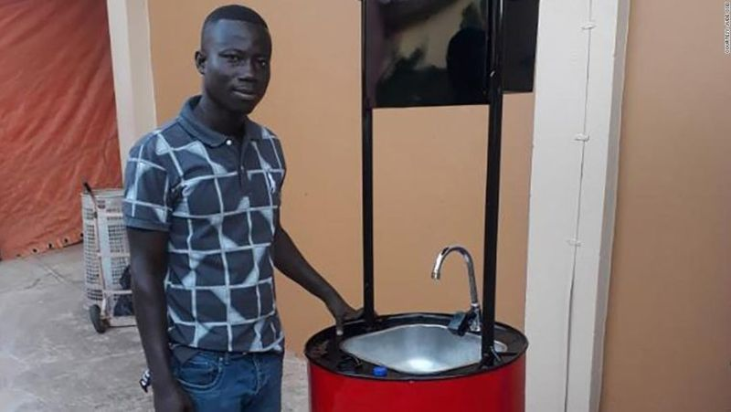 Invention of Solar-Powered Hand Washbasin in Ghana to Battle Coronavirus