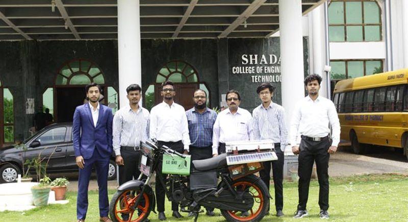 Engineering Students at Shadan College Design Solar-Powered Bike