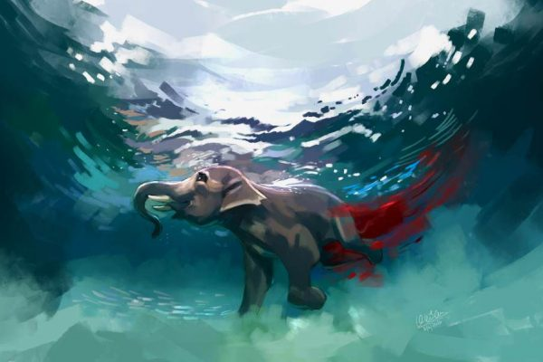 Pregnant Elephant Killed in Kerala - Artwork