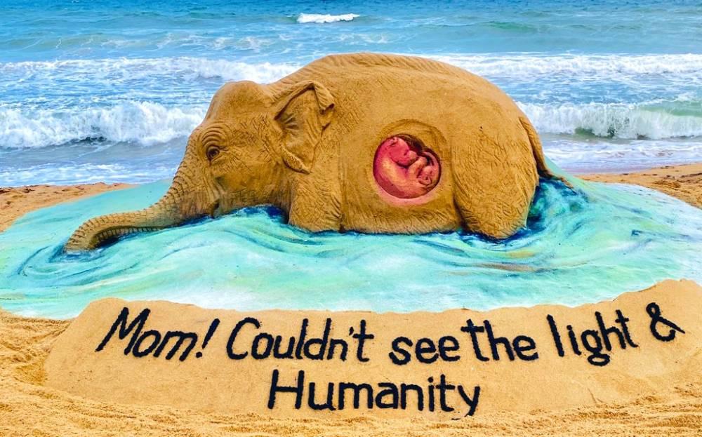 Pregnant Elephant Killed in Kerala - Artwork