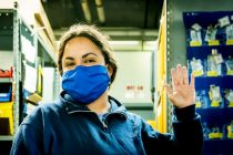 United Airlines Upcycling Old Uniforms into Face Masks for Employees