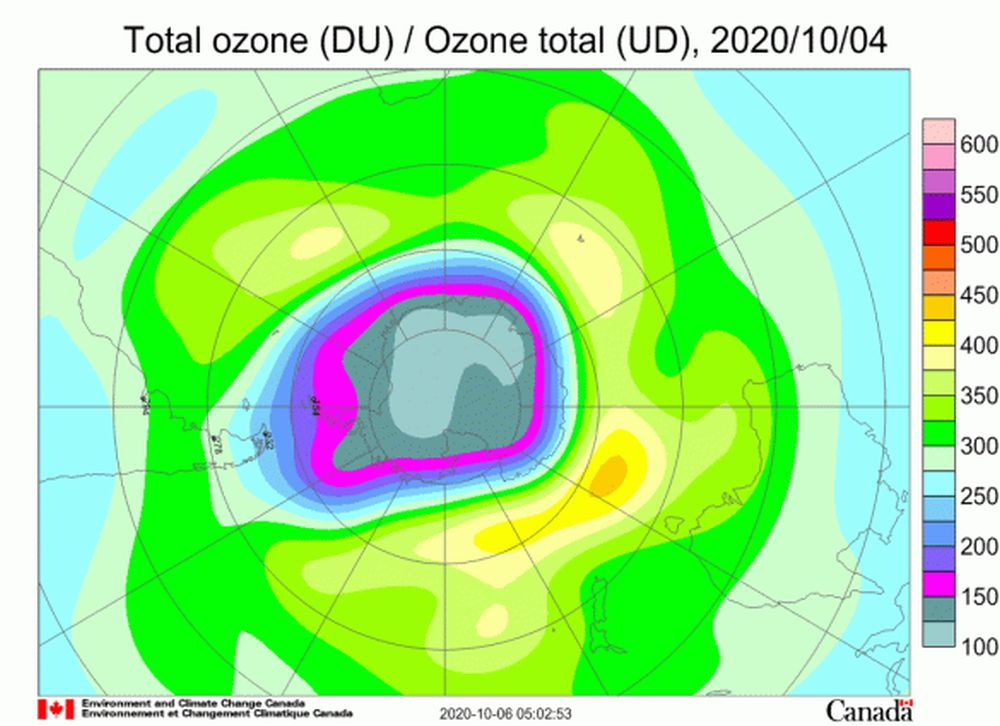Ozone Hole over Antarctic Has Reached Its Largest in 2020