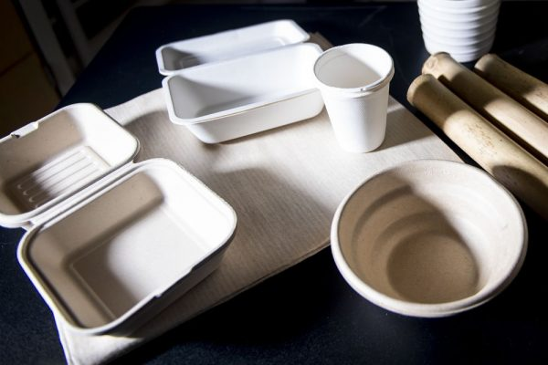 Biodegradable Food Containers Made from Plant Fibers Could Replace Single-Use Takeout Utensils