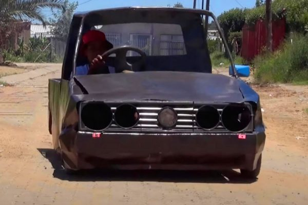 17-year-old South African Builds Car from Scrap Metal