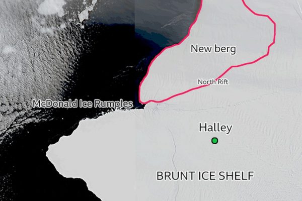 Giant Iceberg the Size of London Breaks Off from Burnt Ice Shelf in Antarctica