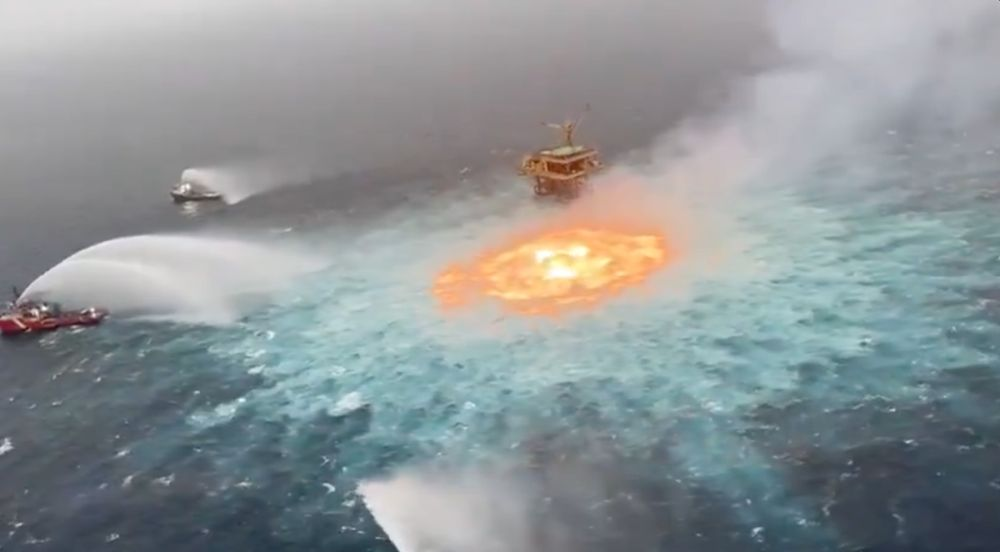 Leaky Gas Pipeline Sets Gulf of Mexico Ablaze