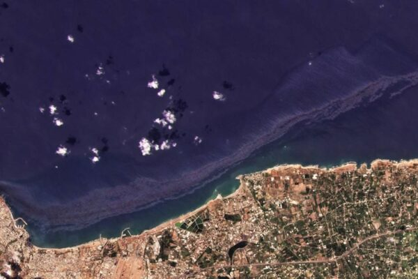 A Huge Oil Spill is Spreading Along Syria's Coast